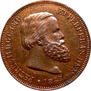 10 réis - Pedro II -  avers