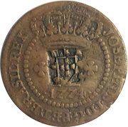 20 réis - José I (Contremarque sur 10 réis) – avers