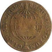20 réis - José I (Contremarque sur 10 réis) – revers