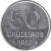 50 cruzeiros - Brasília -  revers