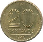20 centavos - Vargas (Bronze aluminium) -  revers