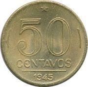 50 centavos - Vargas (Bronze aluminium) -  revers