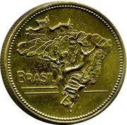 5 cruzeiros - Carte du Brésil -  avers