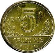 5 cruzeiros - Carte du Brésil -  revers