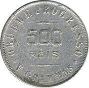 500 réis -  revers