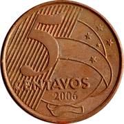 5 centavos - Tiradentes -  revers