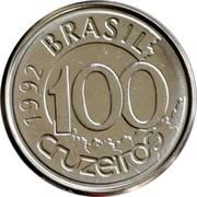 100 cruzeiros - Lamantin -  revers