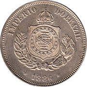 50 réis - Pedro II -  avers