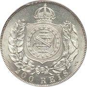 200 réis - Pedro II -  revers