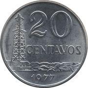 20 centavos - Puits de pétrole (acier inoxydable) -  revers