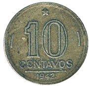 10 centavos - Vargas (Cupronickel) -  revers