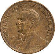 10 centavos - Vargas (Bronze aluminium) -  avers