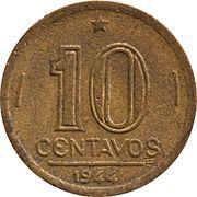 10 centavos - Vargas (Bronze aluminium) -  revers