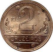 2 cruzeiros (Essai, nickel) – revers