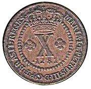 10 réis - Maria I et Pedro III – avers