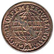 5 réis - José I (parallèles fines sur le globe) – revers