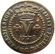 5 réis (Maria I & Pedro III) – avers