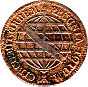 40 réis - Maria I & Pedro III – revers