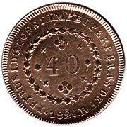 40 réis - Pedro I -  avers