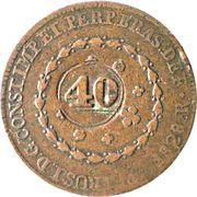 40 réis - Pedro I (contremarquée sur 80 réis) -  avers