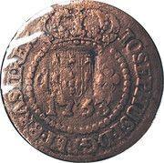 10 réis José I (contremarque sur 5 réis KM#173.1) – avers