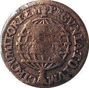 10 réis José I (contremarque sur 5 réis KM#173.1) – revers