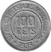 100 réis - Liberté -  revers