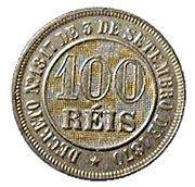 100 réis - Pedro II -  revers
