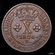 10 réis - João VI -  avers