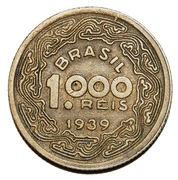 1000 réis - Tobias Barreto -  revers