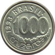 1000 cruzeiros - Acará -  revers