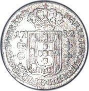 80 réis - Maria I et Pedro III – avers