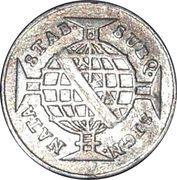 80 réis - Maria I et Pedro III – revers