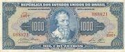 1000 Cruzeiros (1st Print; Tesouro Nacional; Valor Recebido) – avers