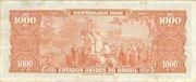 1000 Cruzeiros (1st Print; Tesouro Nacional; Valor Recebido) – revers