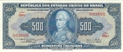 500 Cruzeiros (1st Print; Tesouro Nacional; Valor Recebido) – avers