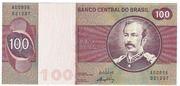 100 Cruzeiros (Banco Central do Brasil; 1st family; 1st type) – avers