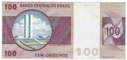 100 Cruzeiros (Banco Central do Brasil; 1st family; 1st type) – revers