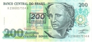 200 Cruzeiros (Stamped on 200 Cruzados Novos) – avers