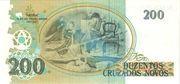 200 Cruzeiros (Stamped on 200 Cruzados Novos) – revers