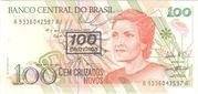 100 Cruzeiros (Stamped 100 Cruzados Novos) – avers