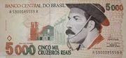 5.000 Cruzeiros Reais – avers