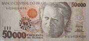 50 Cruzeiros Reais – avers