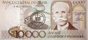 10 Cruzados (Stamped 10,000 Cruzeiros) – avers