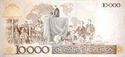 10 Cruzados (Stamped 10,000 Cruzeiros) – revers