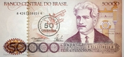 50 Cruzados (Stamped 50000 Cruzeiros) -  avers
