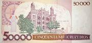 50 Cruzados (Stamped 50000 Cruzeiros) -  revers