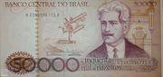50000 Cruzeiros (Banco Central do Brasil; 2nd family) -  avers