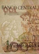 100 Cruzeiros (Stamped 100 Cruzados Novos) -  avers