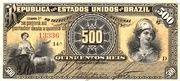 500 Réis (Republic) – avers